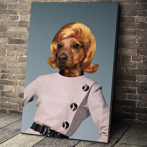 Classy Lady Custom Pet Portrait Canvas - Noble Pawtrait