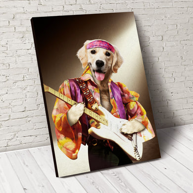 The Rock Star Custom Pet Portrait Poster - Noble Pawtrait