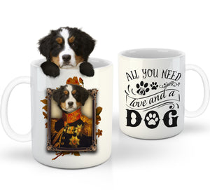The Major Custom Pet Mug - Noble Pawtrait