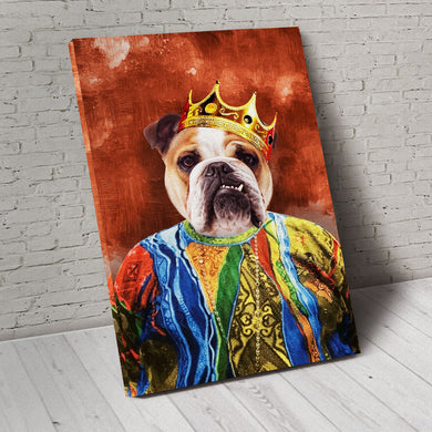 The Notorious Mr. Big Custom Pet Portrait Canvas - Noble Pawtrait