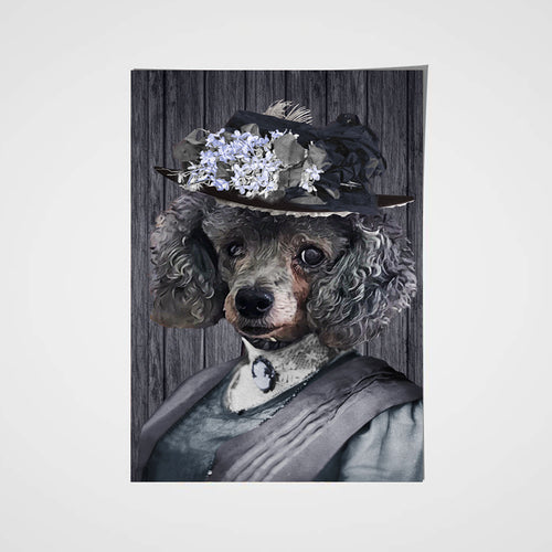 The Mrs. Custom Pet Portrait Poster - Noble Pawtrait