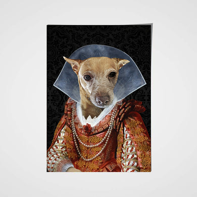 My Lady Custom Pet Portrait Poster - Noble Pawtrait