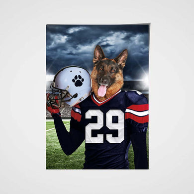 New England Fan Custom Poster Pet Portrait - Noble Pawtrait