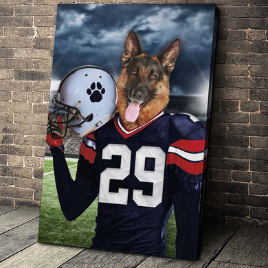 New England Fan Custom Canvas Pet Portrait - Noble Pawtrait