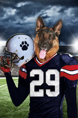 New England Fan Custom Digital Download Pet Portrait - Noble Pawtrait