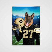 Load image into Gallery viewer, New Orleans Fan Custom Pet Portrait - Noble Pawtrait