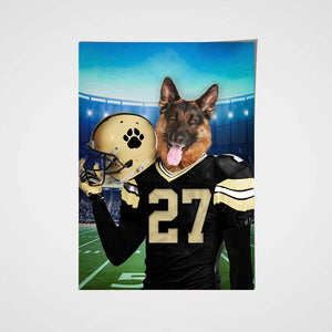 New Orleans Fan Custom Pet Portrait - Noble Pawtrait