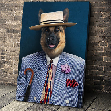 New in Town Custom Pet Portrait - Noble Pawtrait