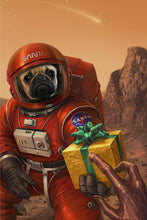 Load image into Gallery viewer, The Outspace Christmas Custom Pet Portrait - Noble Pawtrait