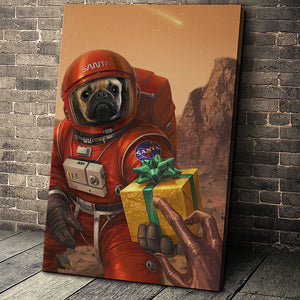 The Outspace Christmas Custom Pet Portrait Canvas - Noble Pawtrait