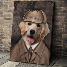 Load image into Gallery viewer, The Detective Paw Custom Pet Portrait Canvas - Noble Pawtrait