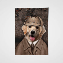 Load image into Gallery viewer, The Detective Paw Custom Pet Portrait Poster - Noble Pawtrait