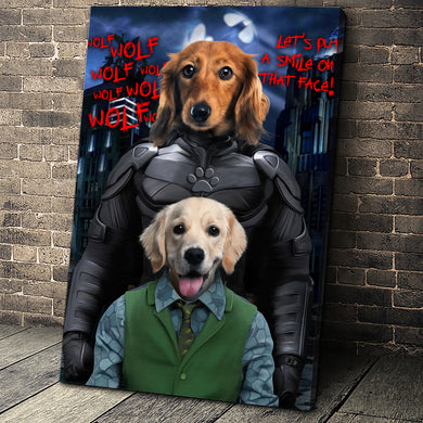 The Paw Knight Couple Custom Pet Portrait - Noble Pawtrait