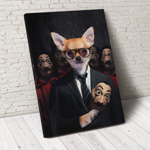 Load image into Gallery viewer, Pawfessor Money Paw Custom Pet Portrait Canvas - Noble Pawtrait