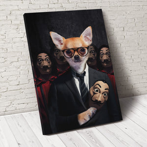 Pawfessor Money Paw Custom Pet Portrait Canvas - Noble Pawtrait