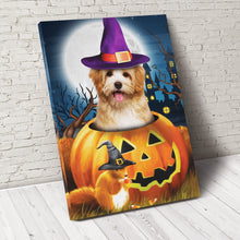 Load image into Gallery viewer, Pawpkin Custom Pet Portrait Canvas - Noble Pawtrait