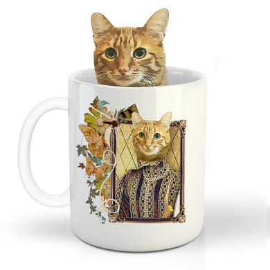 The Perisa Prince Custom Pet Mug - Noble Pawtrait