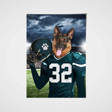 Philadelphia Eagles Fan Custom Poster Pet Portrait - Noble Pawtrait