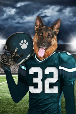 Philadelphia Eagles Fan Custom Digital Download Pet Portrait - Noble Pawtrait