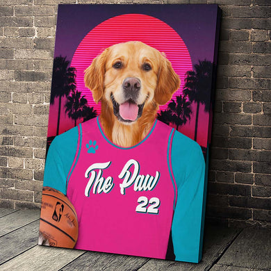 The Pink Heat Custom Canvas Pet Portrait - Noble Pawtrait