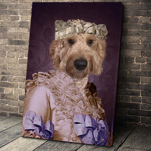 The Pink Lady Custom Pet Portrait Canvas - Noble Pawtrait