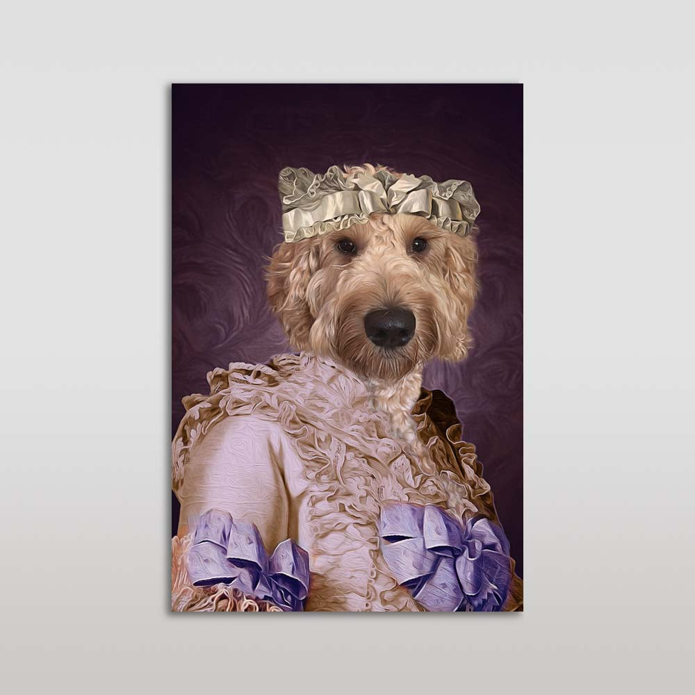 The Pink Lady Custom Pet Portrait Poster - Noble Pawtrait