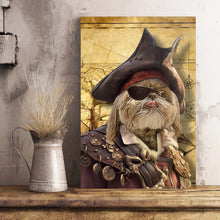 Load image into Gallery viewer, The Pirate Custom Pet Portrait Poster - Noble Pawtrait