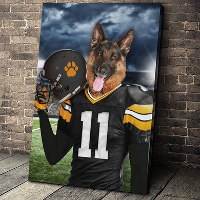 Pittsburgh Fan Custom Canvas Pet Portrait - Noble Pawtrait