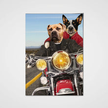 Load image into Gallery viewer, Harley-Pawson Couple Custom Pet Portrait Poster - Noble Pawtrait