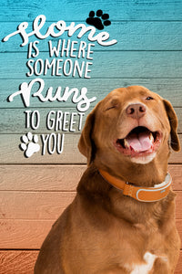 Home is where someone runs Custom Pet Portrait Digital Download - Noble Pawtrait
