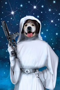 Princess of the Galaxy Custom Pet Portrait Digital Download - Noble Pawtrait