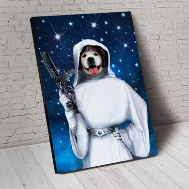 Princess of the Galaxy Custom Pet Portrait Canvas - Noble Pawtrait