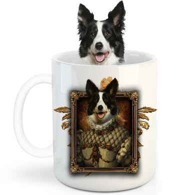 The Queen Elizabeth Custom Pet Mug - Noble Pawtrait