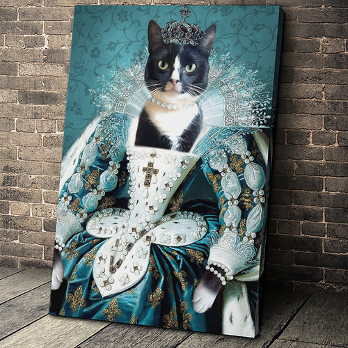 The Queen Custom Pet Portrait - Noble Pawtrait