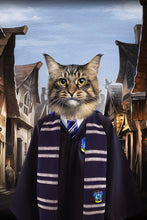 Load image into Gallery viewer, The Wizard Ravenpaw Custom Pet Portrait - Noble Pawtrait