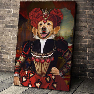 The Red Queen Custom Pet Portrait Canvas - Noble Pawtrait