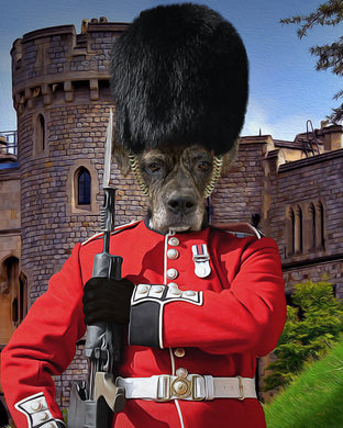 Royal Guard Custom Pet Portrait Digital Download - Noble Pawtrait