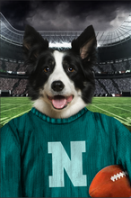 Load image into Gallery viewer, The Vintage Footballer Custom Canvas Pet Portrait - Noble Pawtrait