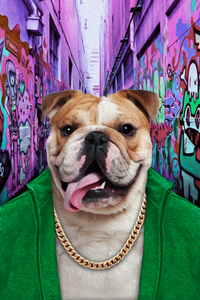 The Hood Custom Pet Portrait - Noble Pawtrait