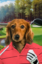 Load image into Gallery viewer, The Golfer Custom Pet Portrait - Noble Pawtrait
