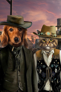 The Wild West Custom Pet Portrait Digital Download - Noble Pawtrait