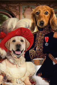 The Royal Couple Custom Pet Portrait Canvas - Noble Pawtrait