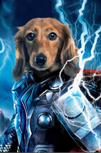 Load image into Gallery viewer, The Thunder Paw Custom Pet Portrait Digital Download - Noble Pawtrait