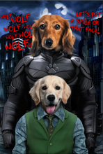 Load image into Gallery viewer, The Paw Knight Couple Custom Pet Portrait - Noble Pawtrait