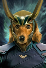 Load image into Gallery viewer, The Deceiver Paw Custom Pet Portrait Digital Download - Noble Pawtrait