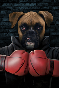 The Boxer Custom Poster Pet Portrait - Noble Pawtrait
