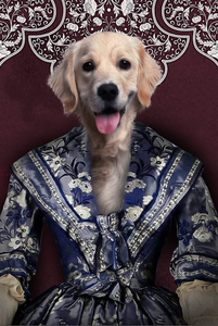 The Renaissance Lady Custom Pet Portrait - Noble Pawtrait