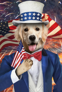 The Uncle Sam Custom Pet Portrait Digital Download - Noble Pawtrait