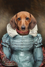 Load image into Gallery viewer, The Red Pearl Lady Custom Pet Portrait Digital Download - Noble Pawtrait