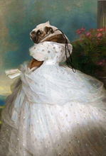 Load image into Gallery viewer, Lady in White Custom Pet Portrait Digital Download - Noble Pawtrait